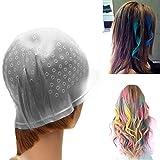 LUVODI Strähnenhaube Professional Haare Färben Kappe mit Metallhaken Silikon Friseur Werkzeuge zur Mehrfachanwendung
