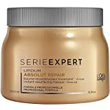 L'Oréal ParisProfessionnel Serie Expert Absolut Repair Lipidium Maske, Tiefenwirksame Glättung und Reparatur der Haare, 1er Pack (1 x 500 ml)