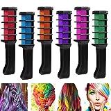 Richoose sofortiges Haar-Farben-Kreide-Kamm-Haarfärbemittel langlebige temporäre Schimmer-Haar-Farben-Creme für Partei-Ventilatoren Cosplay DIY 6PCS
