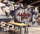 Stereoskopische moderne Frisurenmode des Barbershophintergrundwand-Wandgemäldes 3d der kundenspezifischen Tapete 3D, 200 * 140