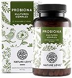 NATURE LOVE Probiona Kulturen Komplex - 18 Bakterienstämme + Bio Inulin. 180 magensaftresistente Kapseln. Mit u.a. Lactobacillus, Bifidobacterium. Vegan, hochdosiert, hergestellt in Deutschland