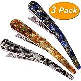 LONEEDY Haarspangen mit Entenzähnen, Haarspangen für dickes Haar, modische Haarnadeln, modische Haarspange für Damen und Mädchen