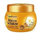 Garnier Wahre Schätze Tiefenpflege-Maske, Argan- und Camelia-Öl, nährt und verwöhnt trockenes Haar, für mehr Glanz und Geschmeidigkeit, 300 ml