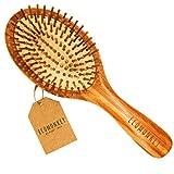 ECOMONKEY  Die nachhaltige Bambus Haarbürste + 100% vegan + Naturborsten aus Bambus + antistatisch + plastikfrei