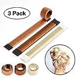 Original Dutt Maker Hilfe für lange und kurze Haare geeignet - 3x Set (Blond, Braun und Hellbraun)