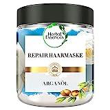 Herbal Essences PURE:renew Marokkanisches Arganöl Repair Haarmaske, 250 ml, Haarpflege Arganöl, Argan Hair Mask, Haarkur Arganöl, Haarpflege Glanz, Haarpflege Trockenes Haar, Arganöl Kur, Aloe Vera