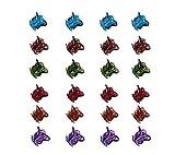FLZONE Mini-Haarspangen, Kunststoff-Haarklammern, Kleine Haarspangen Kunststoff,Orchideen Clips, Klemmen für Mädchen und Frauen, schwarz, 24 Stück 1.5 cm(Mehrfarbig)