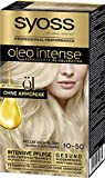 SYOSS Oleo Intense Permanente Öl-Coloration, Haarfarbe 10-50 Helles Aschblond, mit pflegendem Öl & ohne Ammoniak, 3er Pack (3 x 115 ml)