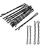 Haarnadeln, 250 Stück Schwarzes Metall Wellenform Haarklammern(200 Stück 1.97 inch und 50 Stück 2.36 inch), Klassische Bobby Pins für Mädchen Haarzusätze