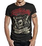 T-Shirt Rockabilly Design: Big Size Print Rockabilly Never Dies! L