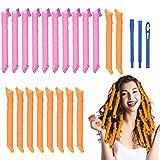 URAQT Lockenwickler Große Locken,20pcs DIY Wave Styling Kit Haar Lockenwickler Rollen Hair Curler für Waves Styler mit Styling-haken