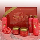 Pflegeset Argan Öl Set 5 tlg. Shampoo Bodylotion Creme Duschgel Pflegeprodukte Geschenkbox