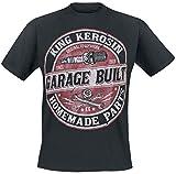 King Kerosin Garage Built Männer T-Shirt schwarz XL 100% Baumwolle Biker, Rockabilly, Rockwear