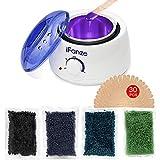 Wachswärmer mit Wachsperlen für Haarentfernung, iFanze Wax Wärmer Wachsbohnen Waxing kit, Wax enthaarung Zuhause