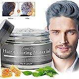 Haarfarbe Grau, Hair Wax, Graue Haarfarbe, Temporäre Haarwachs Grau, Silber Haarfärbemittel Wachs - Natürliche Haarwachs für Cosplay und Party