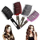Haarbürste Damen, Zoomarlous haarbürste locken, haarbürste ohne ziepen, anti bruch entwirrungs haarbürste, haar bürste für Frauen-Ventbürste Geeignet für Dickes, dünnes, lockiges und nasse Haare