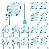15 Set Strähnchenhaube Einweg mit Strähnennadel für Friseur Salon Hervorhebung Kappe Haarfärbung Kappe Einweg