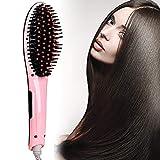 BDENINKK Haarglättungsbürste Antistatische Keramik-Stylingbürste Mit Ionen-Technologie Und LCD-Display-Glättungsbürste Für Alle Haartypen