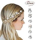 Surplex 72 Stück Curlies Spiralen Haarspiralen Haarspinnen, Perlen Strass Haarschmuck Braut Blumen Kristall Haarspinnen Haarklammer Kopfschmuck Hochzeit Zubehör Haarclips Silber Frauen Damen