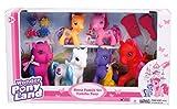 Haberkorn Wonder Pony Land 4 Pony Pferde Puppen 2 Baby Pony mit kämmbarem Haar + Zubehör