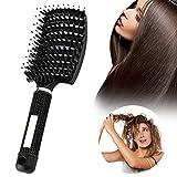 Zoomarlous Haarkämme, Haarbürste Wildschweinborste, entwirrbürste Anti-Tangling-Wildschweinborstenbürste, am besten zum Entwirren von dickem und entwirrendem Haar zum Massieren der Kopfhaut
