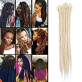 TESS 20' Braids Extensions Blond Kunsthaar Braiding Hair Crochet Synthetik Haar 10 Bündel 70g/Packung 50cm Dreadlock Haarteil Haarverlängerung