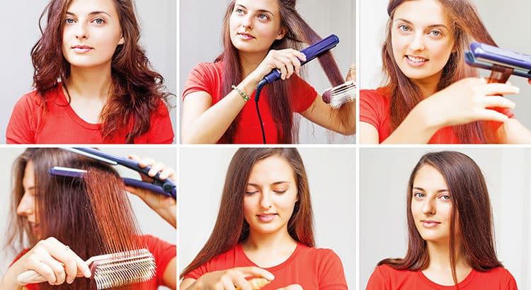 Krause Haare mit einfachen Mitteln glätten