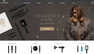 Webseite von Lockenstab-Hersteller Cloud Nine