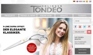 Tondeo Webpage - Hersteller für Glätteisen